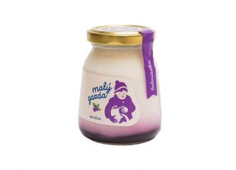 Jogurt bez éčok čučoriedka Malý gazda 200g